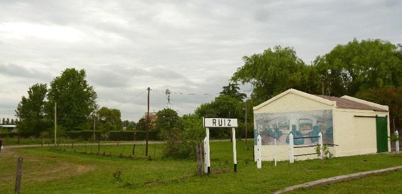 vieja estación del ferrocarril de Villa Ruiz